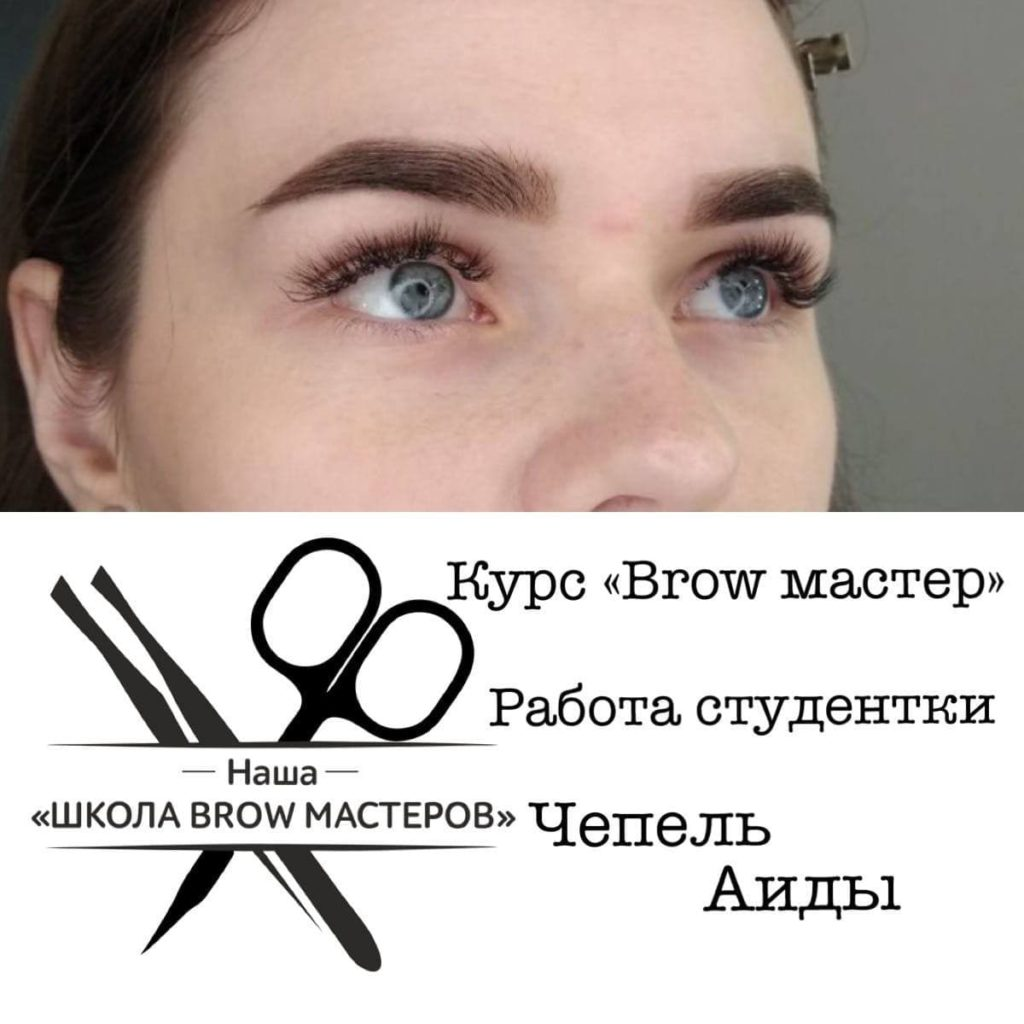 модель брови